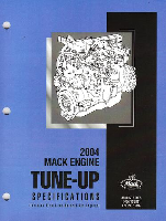 Mack Truck 2004 Engine Tune-Up Specifications