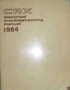 1984 Honda CRX Factory Electrical Troubleshooting Manual