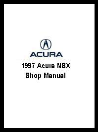1997 Acura NSX Shop Manual