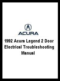 1992 Acura Legend 2 Door Electrical Troubleshooting Manual