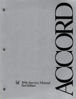 1996 Honda Accord Factory Service Manual