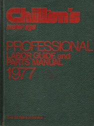 1970 - 1977 Chilton's Labor Guide and Parts Manual