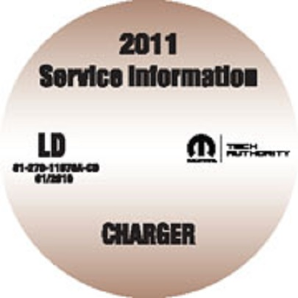 2011 Dodge Charger SE, R/T, AWD, Police Service Workshop Repair Manual CD-ROM