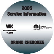 2005 Jeep Grand Cherokee Factory Service Repair Workshop Shop Manual CD