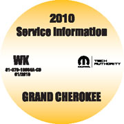 2010 Jeep Grand Cherokee Factory Service Repair Workshop Shop Manual CD