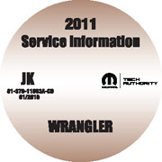 2011 Jeep Wrangler Factory Service Repair Workshop Shop Manual CD
