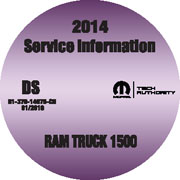 2014 Dodge RAM 1500 2X4/4X4 Service Workshop Repair Shop Manual CD