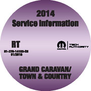 2014 Dodge Grand Caravan & Chrysler Town & Country Service Repair Workshop Shop Manual CD