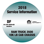 2018 Dodge RAM 3500 TRADESMAN 10K LB CAB CHASSIS Gas/Diesel Service Workshop Repair Manual CD