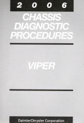 2006 Dodge Viper Chassis Diagnostic Procedures