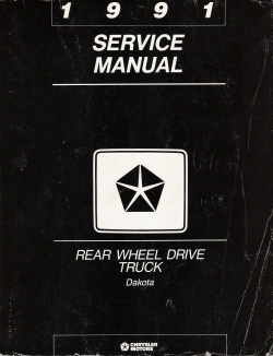 1991 Dodge Dakota Rear Wheel Drive Truck Service Manual