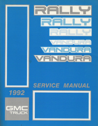 1992 GMC Vandura & Rally Factory Service Manual