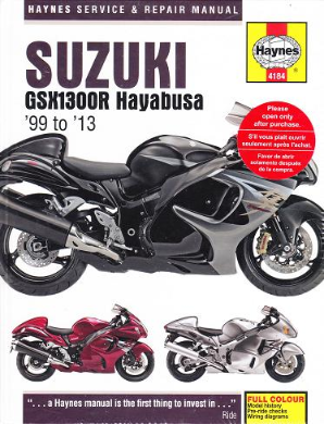 1999 - 2013 Suzuki GSXR1300R Hayabusa Haynes Repair Manual