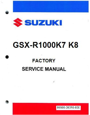 2007 - 2008 Suzuki GSX-R1000K7 & K8 Factory Service Manual