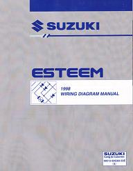 1998 Suzuki Esteem Factory Wiring Diagrams Manual