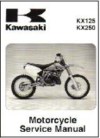 2003-2008 Kawasaki KX125 & 2003-2004 KX250 Motorcycles Factory Service Manual