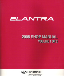 2008 Hyundai Elantra Factory Shop Manual Volume 1