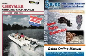 Bonus Pack: Clymer Chrysler, 3.5 - 140 HP Outboards 1966 - 1984, plus Seloc Online Repair & Part Information