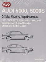 1977 - 1983 Audi 5000 & 5000S (Gas & Diesel) Factory Service Manual