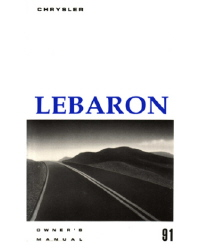 1991 Chrysler Lebaron Convertible/Coupe Factory Owners Manual