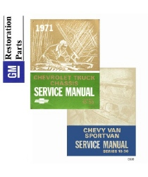 1971 Chevrolet and GMC C/K 10-35 Light Duty Truck and Van Factory Body, Chassis and Electrical Service Manual on CD-ROM