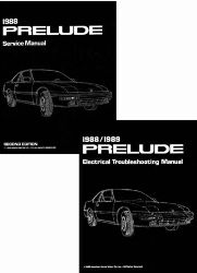 1988 Honda Prelude Factory Service Manual on CD-ROM w/ETM