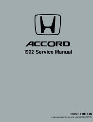1992 Honda Accord Factory Service Manual  on CD-ROM