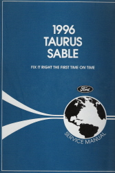 1996 Ford Taurus & Mercury Sable Factory Service Manual