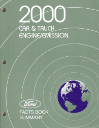 2000 Ford Car & Truck Engine/Emission Facts Book Summary