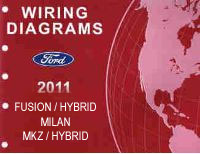 2011 Ford Fusion, Fusion Hybrid, Mercury Milan, Lincoln MKZ & MKZ Hybrid Factory Wiring Diagrams Manual