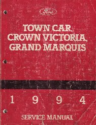 1994 Ford Crown Victoria / Lincoln Town Car / Mercury Grand Marquis Factory Service Manual