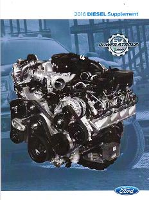 2016 Ford 6.7L Powerstroke Diesel Factory Owner's Guide Supplement