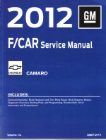 2012 Chevrolet Camaro Factory Service Repair Workshop Manual, 4 Vol. Set