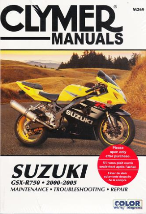 2000 - 2005 Suzuki GSX-R750 Clymer Repair Manual