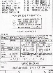 Mack Wiring Diagram Chassis Series MR 2001-2002