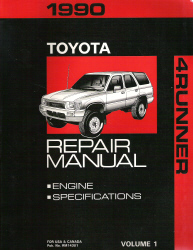 1990 TOYOTA 4RUNNER Factory Service Repair Workshop Shop Manual- 2 Vol. Set
