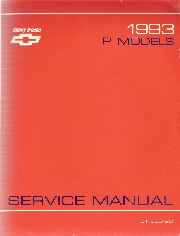1993 Chevrolet P Models Truck Service Manual