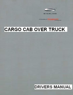 Sterling Cargo Cab-Over Factory Drivers Manual
