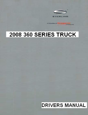 2008 Sterling 360 Factory Drivers Manual