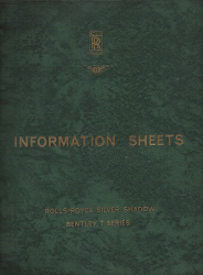 1972 - 1975 Rolls Royce & Bentley Spares  Information Sheets