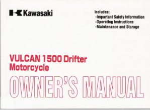 2000 Kawasaki Vulcan 1500 Drifter Owner's Manual