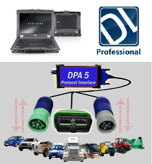 Detroit Diesel/Mercedes DiagnosticLink PRO DDDL on Dell Rugged XFR-E6400 w/ DPA-5 Adapter