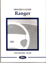 1999 Ford Ranger Owner's Manual Package with Case