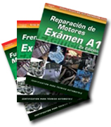 SPANISH VERSION: ASE Test Prep Manuals -- Automobile A1 - A8; 8 Volume Set