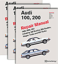 1989 - 1991 Audi 100, 200, (C3), Bentley Factory Repair Manual A191