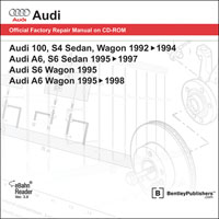 1992 - 1998 Audi 100 S4, A6, S6 Sedan & Wagon DVD-ROM Repair Manual