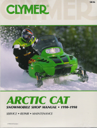 1990 - 1998 Arctic Cat Snowmobile Clymer Repair Manual