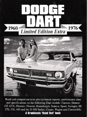 1960-1976 Dodge Dart Limited Edition Extra Manual
