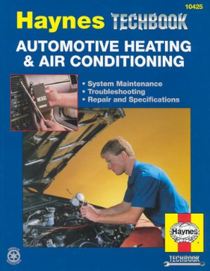 Automotive Heating & Air Conditioning Haynes Techbook