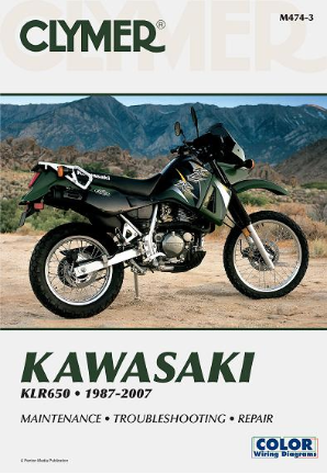 1987 - 2007 Kawasaki KLR650 Clymer Repair Manual